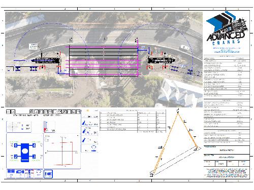 Advanced Cranes - Lift Study Barongarook Ck Bridge Beam Install-250- Prelim LS Rev D